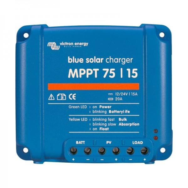 Ρυθμιστής Φόρτισης VICTRON 15A 12/24V MPPT (BlueSolar 75/15)