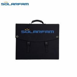 Αναδιπλούμενο Φωτοβολταικό πάνελ SOLARFAM 120W 12V Mono & Ρυθμιστής Φόρτισης PWM 10A με οθόνη και διπλή θύρα USB