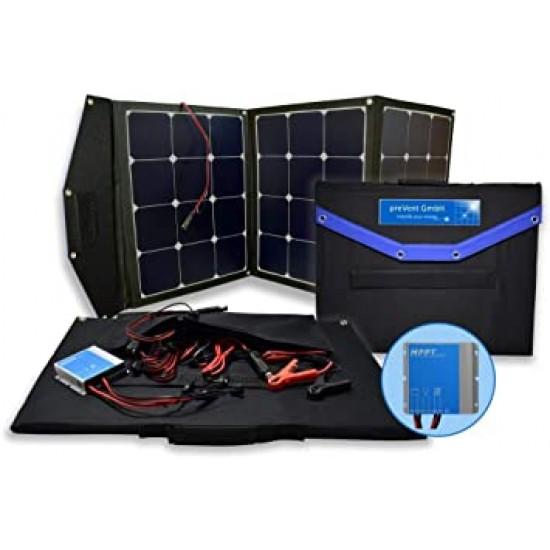 Αναδιπλούμενο Φωτοβολταικό πάνελ SOLARFAM 110W 12V Mono με Ενσωματωμένο Ρυθμιστή Φόρτισης 10A και προέκταση καλωδίου 7m