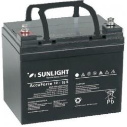 Μπαταρία AGM SUNLIGHT Accuforce Solar 12-35S (12V, 35Ah/C100, 34.6Ah/C20)