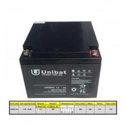 Μπαταρία AGM UNIBAT 12-26DC (12V, 26Ah/C20)