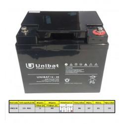 Μπαταρία AGM UNIBAT 12-42DC (12V, 42Ah/C20)