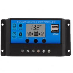 Ρυθμιστής Φόρτισης PWM OEM 10A 12/24V Με Οθόνη και Διπλή Θύρα USB