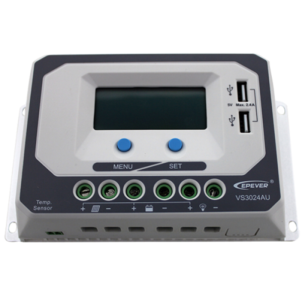 Ρυθμιστής Φόρτισης PWM EPSOLAR 30A 12/24V με Οθόνη (VS3024AU)