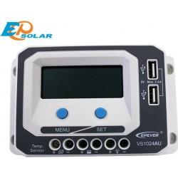 Ρυθμιστής Φόρτισης PWM EPSOLAR 10A 12/24V με Οθόνη (VS1024AU)