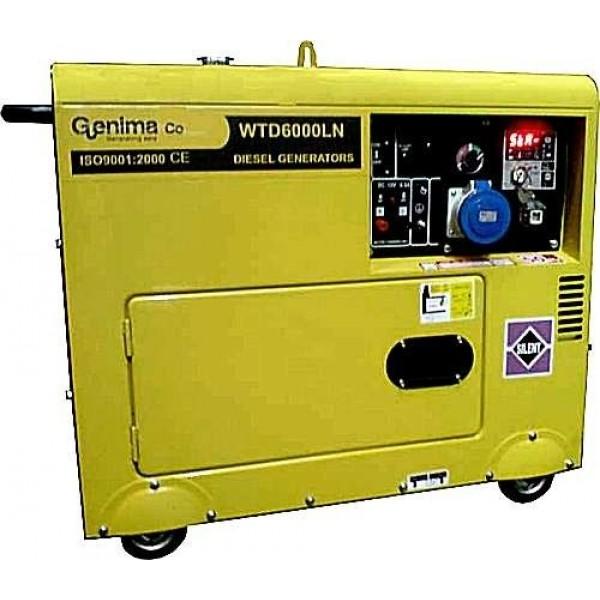 Η/Ζ Πετρελαίου GENIMA 6000LN 6.0KVA 3000RPM Κλειστού Τύπου (Αθόρυβη)