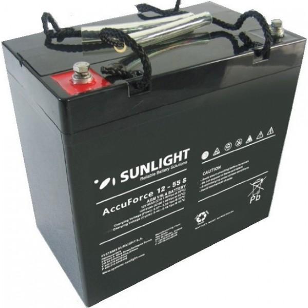 Μπαταρία AGM SUNLIGHT Accuforce Solar 12-55S (12V, 55Ah/C10)