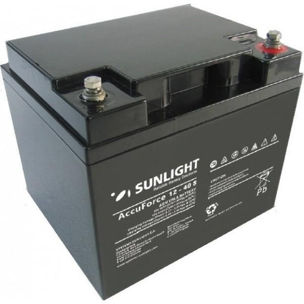 Μπαταρία AGM SUNLIGHT Accuforce Solar 12-40S (12V, 40Ah/C10, 42Ah/C20)