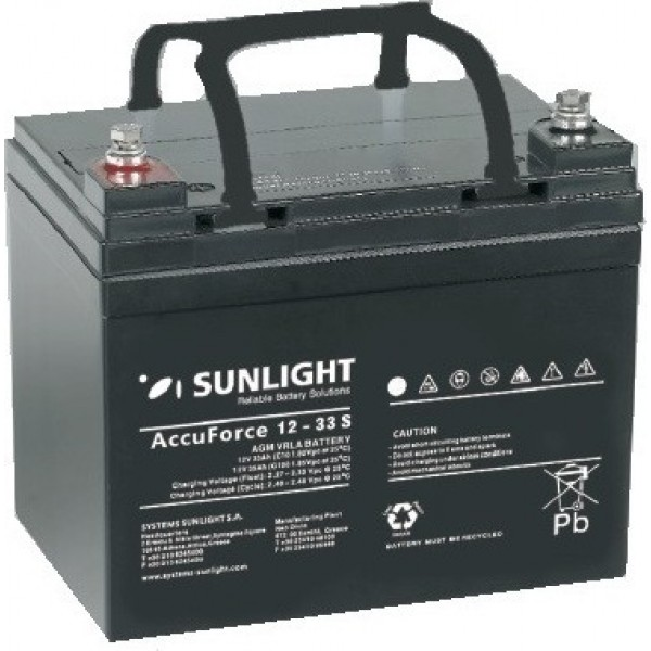 Μπαταρία SUNLIGHT Accuforce Solar 12-33 (12V 33Ah-C10, 35Ah-C20)