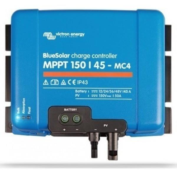 Ρυθμιστής Φόρτισης MPPT VICTRON 45A 12/24/48V BlueSolar (BlueSolar MPPT 150/45-MC4)