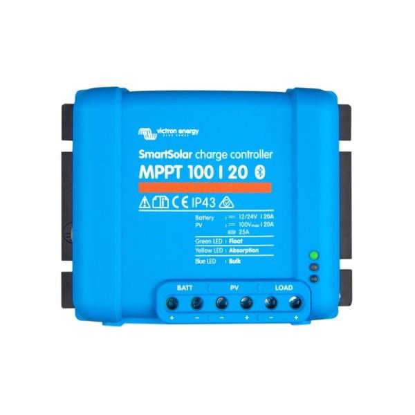 Ρυθμιστής Φόρτισης VICTRON 20A 12/24V MPPT (SmartSolar 100/20)