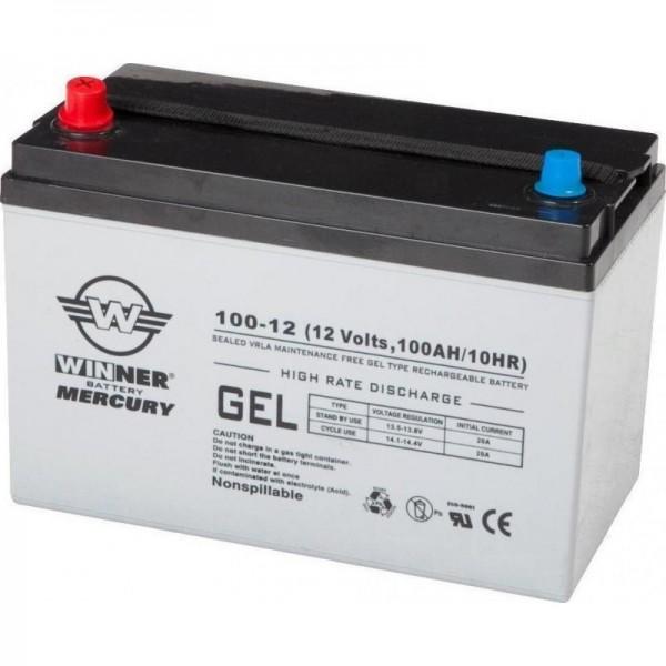 Μπαταρία WINNER Mercury100-12 GEL(12V 120Ah-C100, 100Ah-C20)