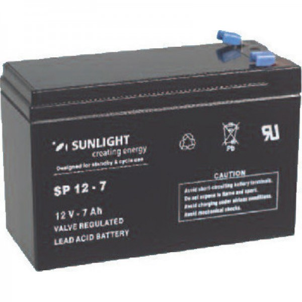 Μπαταρία SUNLIGHT SPA 12-7 (12V 7Ah-C20)