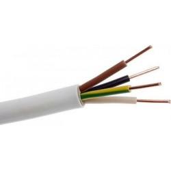 Καλώδιο ΝΥΜ A05VV-U  3x2.5mm  Λευκό (1m)