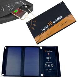 Ηλιακός Φορτιστής INVICTUS με Ενσωματωμένο Φωτοβολταικό Πάνελ 15W και 2 Θύρες USB 5V-3A