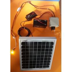 ΚΙΤ Πάνελ+Μπαταρία+Λάμπα 2w+Έξοδος Αναπτήρα/USB για Φόρτιση Κινητού+Ρυθμιστής Φόρτισης+Βάση (Καλοκαίρι) (SES-M05)