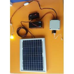 ΚΙΤ Πάνελ+Μπαταρία+Λάμπα 2w+Έξοδος Αναπτήρα/USB για Φόρτιση Κινητού+Ρυθμιστής Φόρτισης (Καλοκαίρι) (SES-M04)