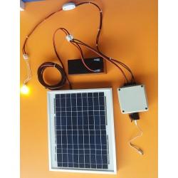 ΚΙΤ Πάνελ+Μπαταρία+Λάμπα 2w+Έξοδος Αναπτήρα/USB για Φόρτιση Κινητού (Καλοκαίρι) (SES-M03)