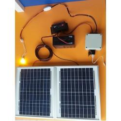 ΚΙΤ 2Πάνελ+Μπαταρία+Λάμπα 2w+Έξοδος Αναπτήρα/USB για Φόρτιση Κινητού (Χειμώνα-Καλοκαίρι) (SES-M08)
